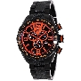 Swiss Precimax Men's Deep Blue Pro III SP13126 Black Stainless-Steel Swiss Chronograph Watch With Orange Dial
