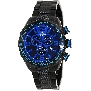 Swiss Precimax Men's Deep Blue Pro III SP13127 Black Stainless-Steel Swiss Chronograph Watch With Blue Dial