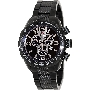 Swiss Precimax Men's Deep Blue Pro III SP13129 Black Stainless-Steel Swiss Chronograph Watch With Silver Dial