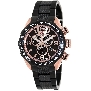Swiss Precimax Men's Deep Blue Pro III SP13133 Black Stainless-Steel Swiss Chronograph Watch With Rose-Gold Dial