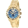Swiss Precimax Men's Deep Blue Pro III SP13135 Gold Stainless-Steel Swiss Chronograph Watch With Gold Dial