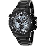 Swiss Precimax Men's Magnus Pro SP13141 Black Stainless-Steel Swiss Chronograph Watch With Black Dial