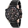 Swiss Precimax Men's Magnus Pro SP13145 Black Stainless-Steel Swiss Chronograph Watch With Black Dial