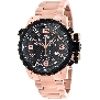 Swiss Precimax Men's Magnus Pro SP13147 Rose-Gold Stainless-Steel Swiss Chronograph Watch With Black Dial