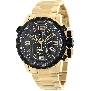 Swiss Precimax Men's Magnus Pro SP13149 Gold Stainless-Steel Swiss Chronograph Watch With Black Dial