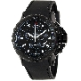 Swiss Precimax Men's Command Pro Sport SP13154 Black Polyurethane Swiss Chronograph Watch With Black Dial