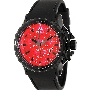 Swiss Precimax Men's Command Pro Sport SP13155 Black Polyurethane Swiss Chronograph Watch With Red Dial