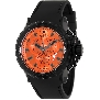 Swiss Precimax Men's Command Pro Sport SP13156 Black Polyurethane Swiss Chronograph Watch With Orange Dial