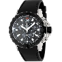 Swiss Precimax Men's Command Pro Sport SP13157 Black Polyurethane Swiss Chronograph Watch With Black Dial