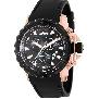 Swiss Precimax Men's Command Pro Sport SP13158 Black Polyurethane Swiss Chronograph Watch With Black Dial