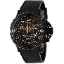 Swiss Precimax Men's Command Pro Sport SP13159 Black Polyurethane Swiss Chronograph Watch With Black Dial