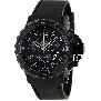 Swiss Precimax Men's Command Pro Sport SP13160 Black Polyurethane Swiss Chronograph Watch With Black Dial