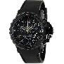 Swiss Precimax Men's Command Pro Sport SP13160 Black Polyurethane Swiss Chronograph Watch With Black Dial