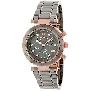 Swiss Precimax Women's Sophie Ceramic Elite SP13166 Grey Ceramic Swiss Chronograph Watch With Mother-Of-Pearl Dial