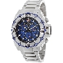 Swiss Precimax Men's Tactical Pro SP13174 Silver Stainless-Steel Swiss Chronograph Watch With Blue Dial