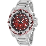 Swiss Precimax Men's Tactical Pro SP13175 Silver Stainless-Steel Swiss Chronograph Watch With Red Dial