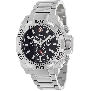 Swiss Precimax Men's Quantum Pro SP13178 Silver Stainless-Steel Swiss Chronograph Watch With Black Dial