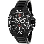 Swiss Precimax Men's Quantum Pro SP13180 Black Stainless-Steel Swiss Chronograph Watch With Black Dial