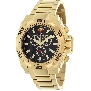 Swiss Precimax Men's Quantum Pro SP13182 Gold Stainless-Steel Swiss Chronograph Watch With Black Dial