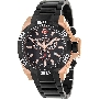 Swiss Precimax Men's Quantum Pro SP13186 Two-Tone Stainless-Steel Swiss Chronograph Watch With Black Dial