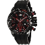 Swiss Precimax Men's Forge Pro Sport SP13236 Black Silicone Swiss Chronograph Watch With Black Dial