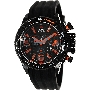 Swiss Precimax Men's Forge Pro Sport SP13237 Black Silicone Swiss Chronograph Watch With Black Dial