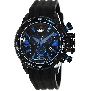 Swiss Precimax Men's Forge Pro Sport SP13238 Black Silicone Swiss Chronograph Watch With Black Dial