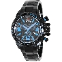 Swiss Precimax Men's Forge Pro SP13242 Black Stainless-Steel Swiss Chronograph Watch With Black Dial
