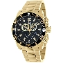 Swiss Precimax Men's Crew Pro SP13254 Gold Stainless-Steel Swiss Chronograph Watch With Black Dial
