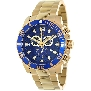 Swiss Precimax Men's Crew Pro SP13255 Gold Stainless-Steel Swiss Chronograph Watch With Blue Dial