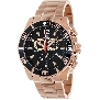 Swiss Precimax Men's Crew Pro SP13257 Rose-Gold Stainless-Steel Swiss Chronograph Watch With Black Dial