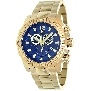 Swiss Precimax Men's Legion Pro SP13266 Gold Stainless-Steel Swiss Chronograph Watch With Blue Dial