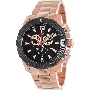 Swiss Precimax Men's Legion Reserve Pro SP13268 Rose-Gold Stainless-Steel Swiss Chronograph Watch With Black Dial