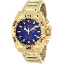 Swiss Precimax Men's Quantum Pro SP13272 Gold Stainless-Steel Swiss Chronograph Watch With Blue Dial